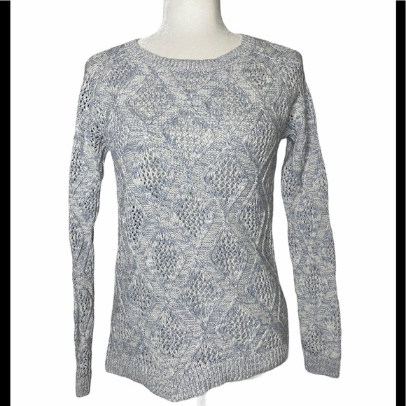 Sonoma Cotton Marled Diamond Cable Knit Sweater